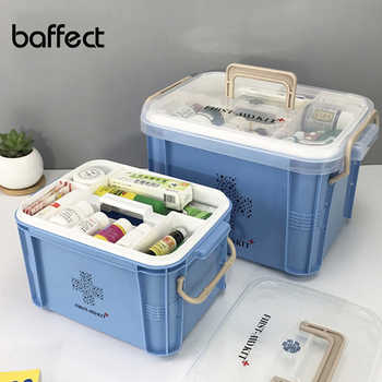 Baffect First Aid Kit Box Medicine Box Plastic Container Emergency Kit Portable 2Layer Large Capacity Medical Storage Organizer - DISCOUNT ITEM  45% OFF All Category