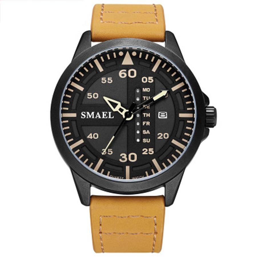 2018 Männer Business Uhren Top Marke Luxus Leder Band Uhr 30 Mt Wasserdicht Analog Quarz Uhr Mode Minimalistischen Armbanduhr