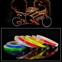 Nova 8m1cm Adesivos Refletivos Refletor Fluorescente Aro Decalque PVC Fita de Segurança para Motos e carros