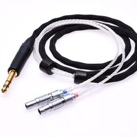 Black 16 Cores 5N Pcocc silver plated For Focal Utopia Ultra Headphone Upgrade Cable Extension cord