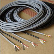 26AWG 4 Núcleos Multicores Cables Blindados de Cobre Estañado Controlado UL2547 Cable Auriculares-3/5/10/20 Metros