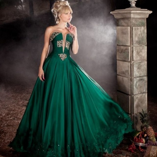 Aliexpress.com : Buy Fresh Dark Old Green Long Evening