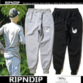RIPNDIP Men Women Cat Pants High Quality 100% Cotton Hip Hop Joggers Boost Clothing Fear of God Gymshark Sport Pants