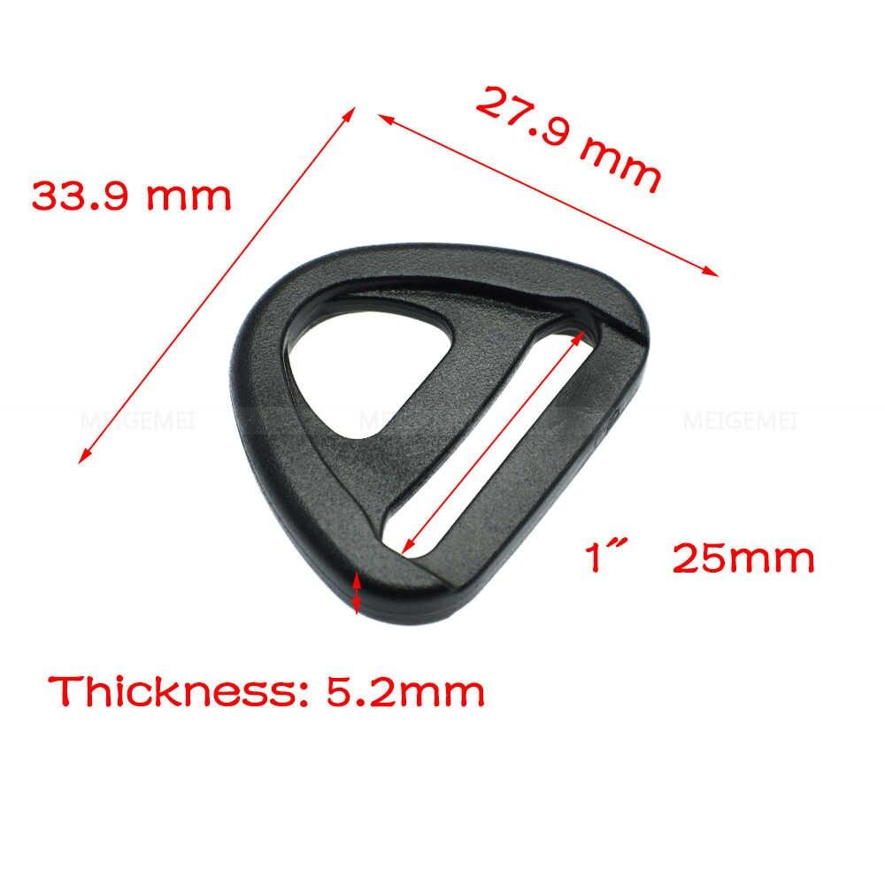 Vải 20 mét 25 mét 32 mét 38 mét 50 mét Nhựa Điều Chỉnh với thanh Xoay Đoạn D-Ring vòng Chèn Khóa Ba Lô Dây Đeo