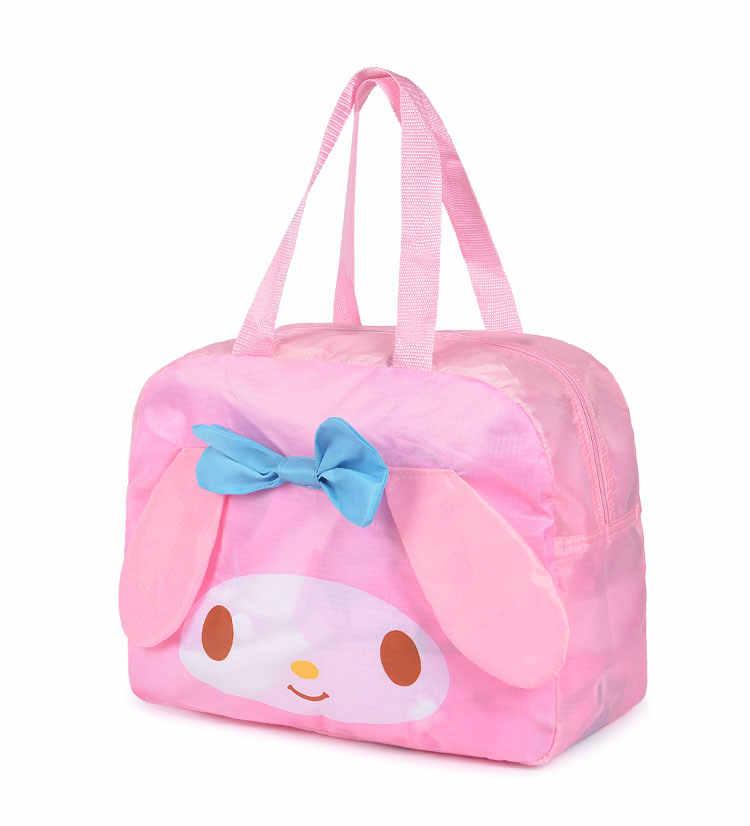 ... Kawaii Cute Hello Kitty Cat My Melody Foldable Folding Travel Bag Women  Girls Cartoon Tote Duffle ... 6eb40b3f05c5f
