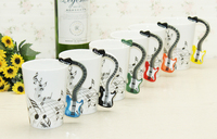 201 300ML Porcelain Tea Cup With Gift Box Creative Guitar Music Mug Ceramic Coffee Cup For