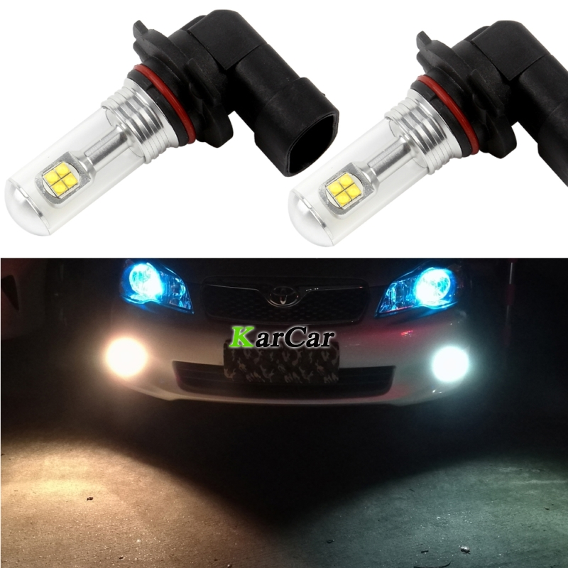 2x New 40W CREE Chip XBD 572LM 9006 Auto Car Fog Lights HB4 LED Daytime Running Lamps 12V 24V Driving Bulbs 6000K White
