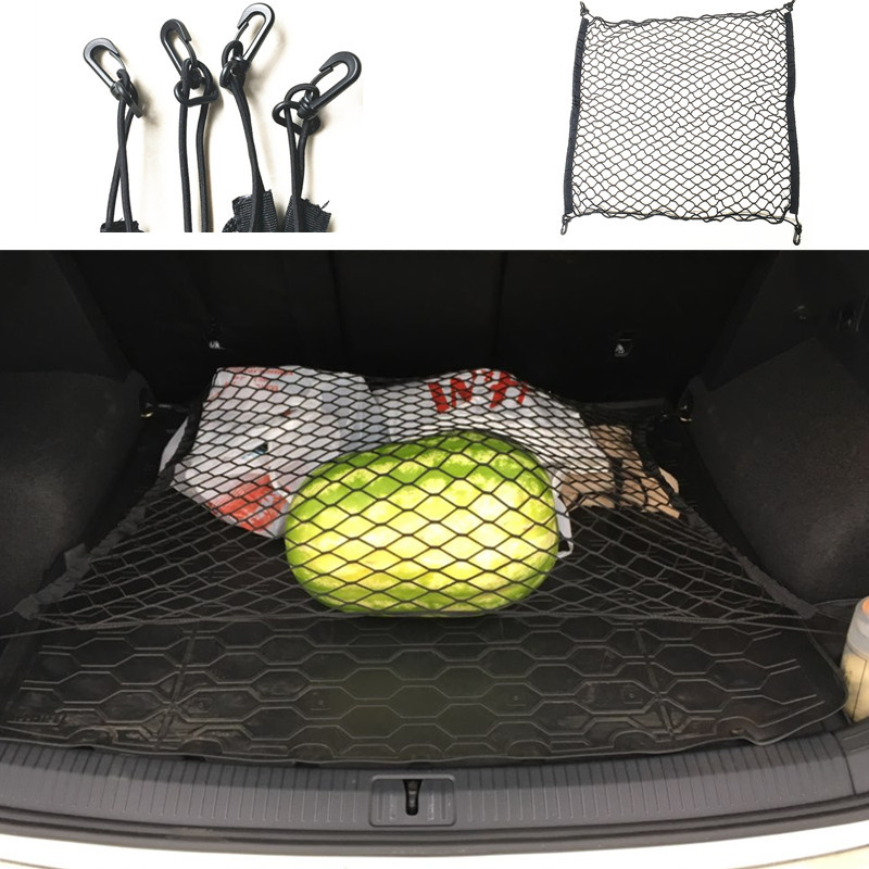 CAR Mesh Cargo Net Holder Trunk Elastic Storage 4 Hook For Volkswagen VW GOLF 6 7 CC TIGUAN Touran Mitsubishi For Skoda Octavia
