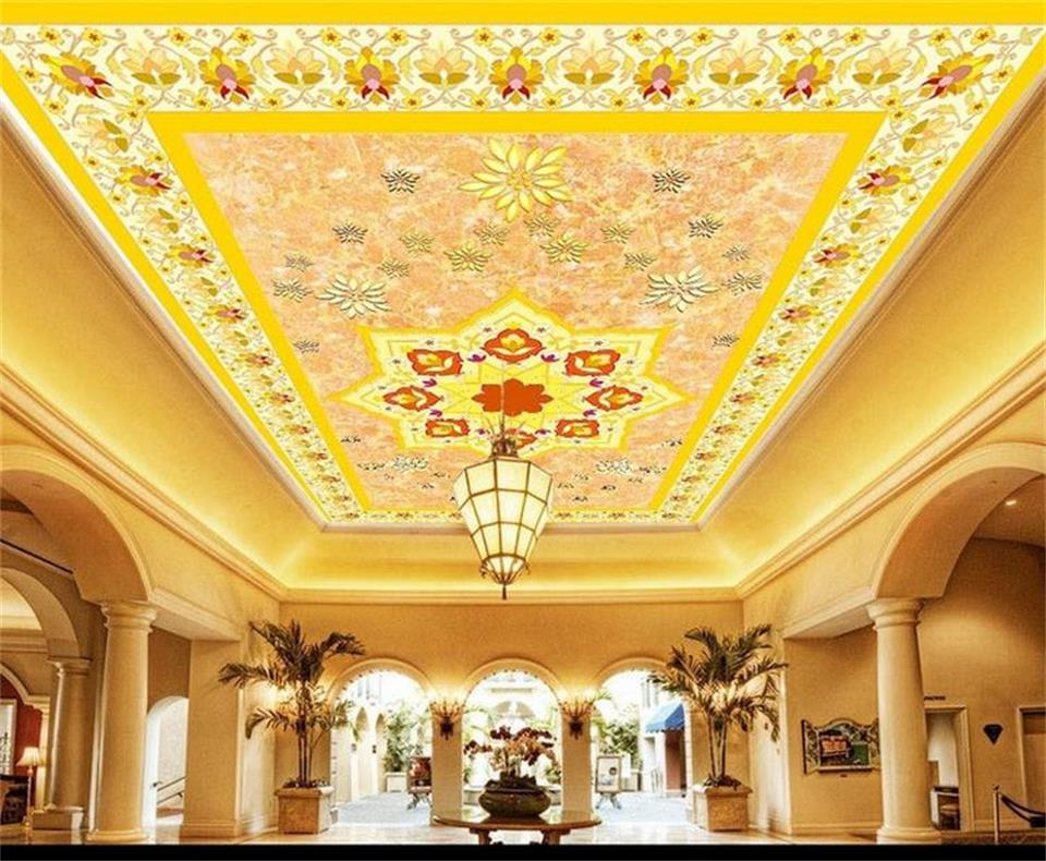 Custom 3d photo wallpaper mural ceiling room European flower carpet painting background non-woven sticker wallpaper for wall 3d free shipping large mural wallpaper villa living room ceiling european oil painting wallpaper