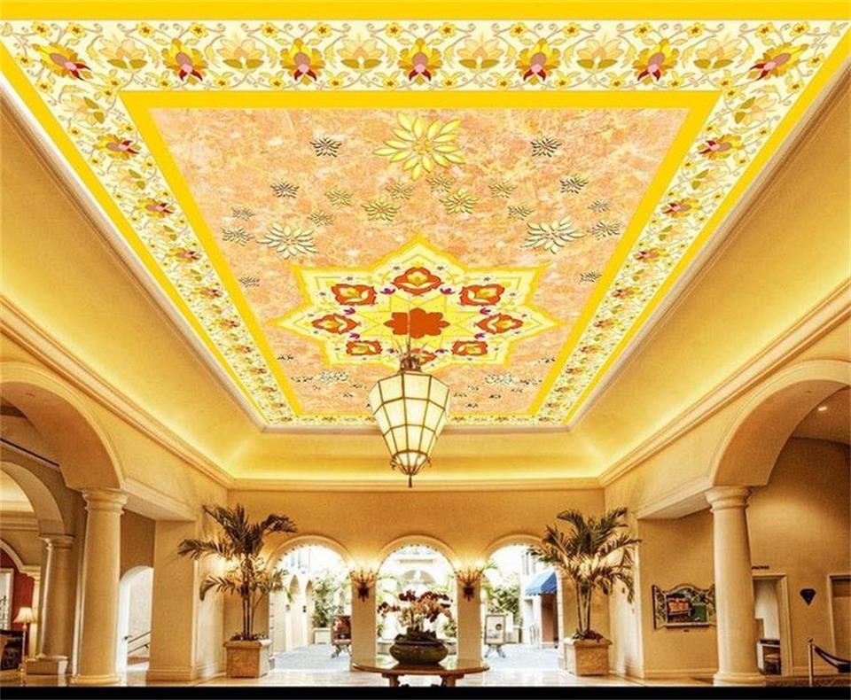 ceiling carpet custom background 3d wall mural woven sticker european non flower painting