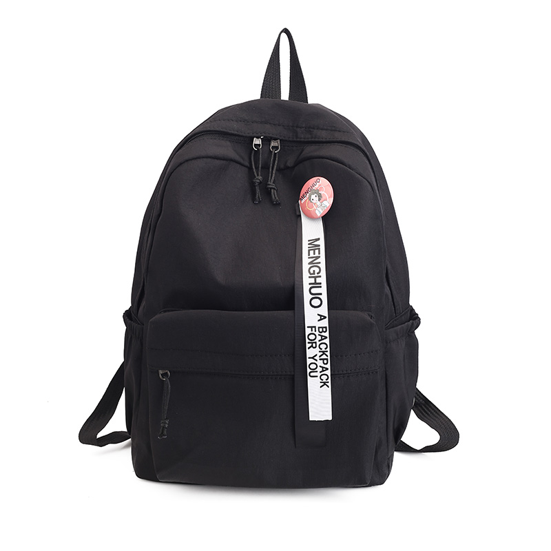 c720ee30f1690f Best buy Menghuo 2017 Simple Candy Color Backpack Micro chapter School Bag  Ribbon decoration Girl Rucksack Mochila Escolar Women Backpack online cheap