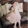 Bebé Vestido de Las Muchachas Del Verano 2016 Muchachas de la Marca Vestido de Encaje de La Boda Vestido de Princesa para Las Niñas Vestidos de Los Cabritos Ropa de Niños