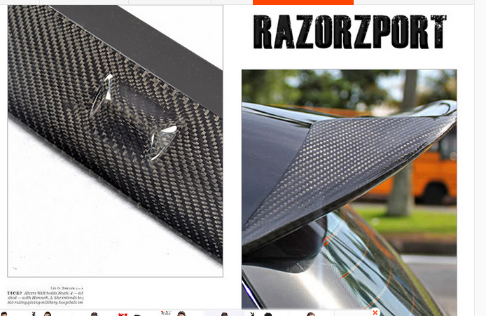 carbon fiber rear spoiler fit for volkswagen golf 6 mk6. Black Bedroom Furniture Sets. Home Design Ideas
