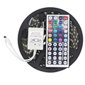 5050 Black PCB RGB LED Strip DC12V IP65 Waterproof 60LED/m 5m/lot Flexible LED tape Light  + 44 Key remote Controller