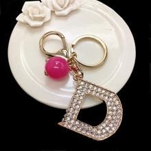 K202 в форме буквы D с брелки Porte Clef длинный брелок Элитный бренд брелок подвески для ключей, ювелирное изделие для Для женщин сумки автомобили