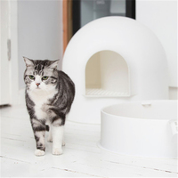 Cat Litter Box Toilet Closed Bedpans Arenero Gato Box Restroom Sand Puppy For The Cat Toilet Training Dogs Tray Indoor QQM2313