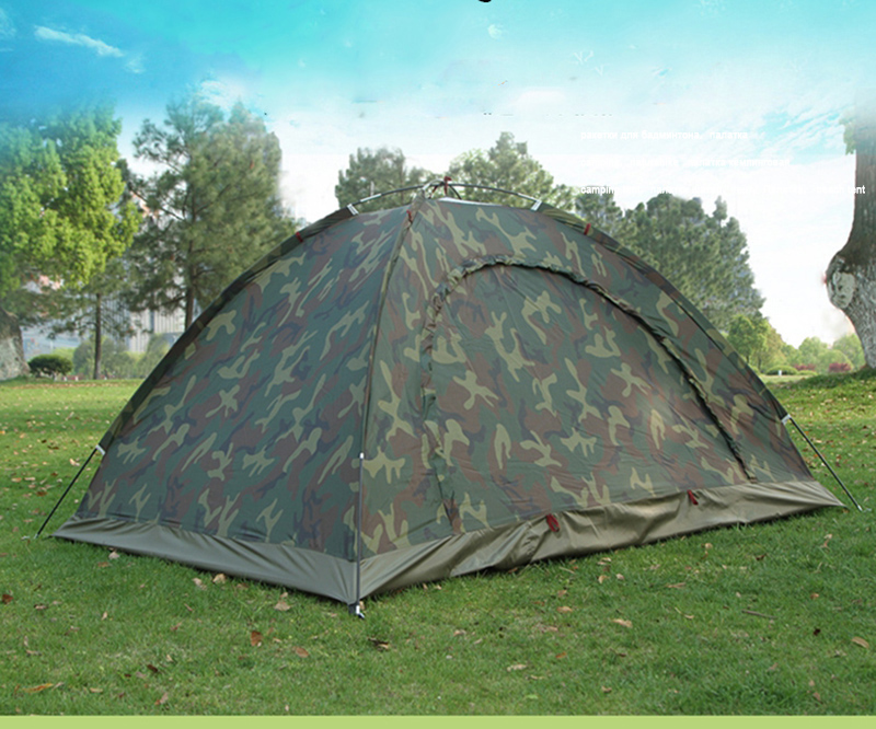 Camping Tourist Tents Camouflage Marquee Portable Pop-up Tent for 2 People Waterproof Ultraviolet-proof Coating for Lovers
