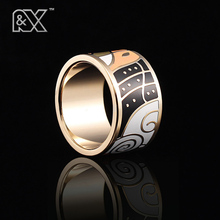 R&X 2016 hot style restoring ancient ways ethnic stainless steel wholesale jewelry enamel ring ring package mail process