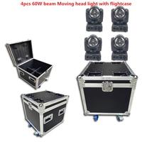 4PCS 60W + flightcase LED ספוט הזזת ראש אור/ארה