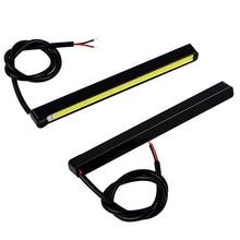 2PCS 10.5cm Car DRL LED Daytime Running Lights Car-styling Ultra Bright COB LED Auto Daylight Driving Fog Lamps Day Light Source