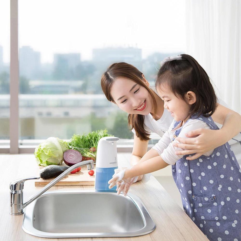 Xiaomi xiaoji Auto Induction Moussant Main Rondelle Lavage distributeur automatique de savon 0.25 s Infrarouge induction Pour Bébé et La Famille