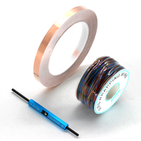 8 Color Wrapping Wire AWG30 OK Line Electrical Wire + WSU Wire Wrap Strip Unwrap Tool + Single Side Conductive Copper Foil Tape