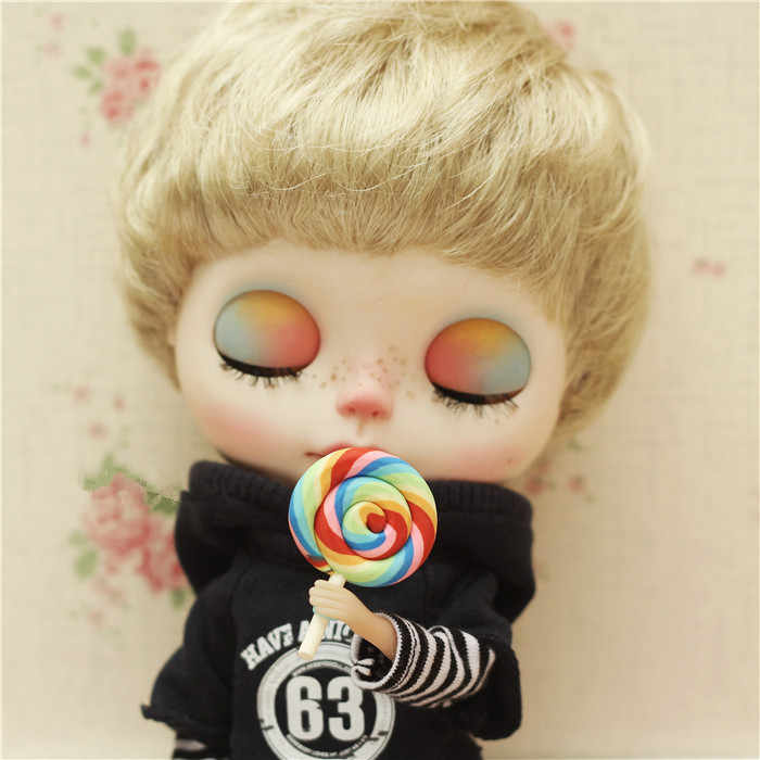 Кукла мини леденец BJD конфеты Blyth кукла Кэнди фотосъемка со сценой мягкая игрушка пищевая игра (Fit Azone, BJD, mmk, ob, Pullip, barbi)
