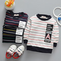 17 years of new spring children sweater striped long sleeved shirt