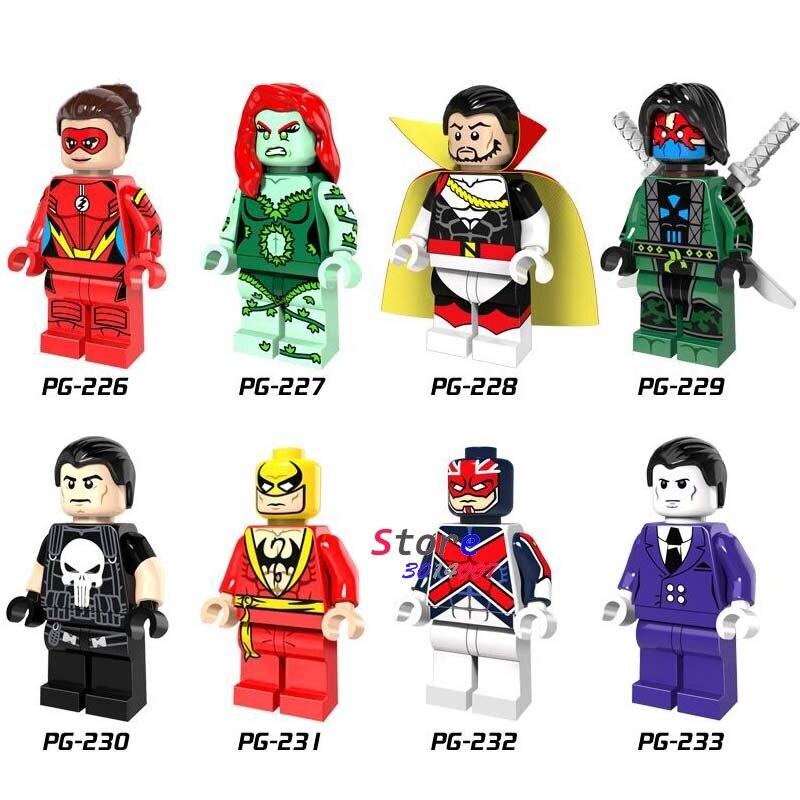 80pcs super hero Marvel Punisher Purple Man Iron Fist Luchino Nefaria collectible model building blocks friend toys for children