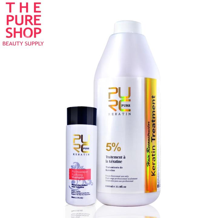 Brazilian keratin repair damaged hair 5% formlain 1000ml PURE keratin hair treatment cheeper price wholesale and OEM