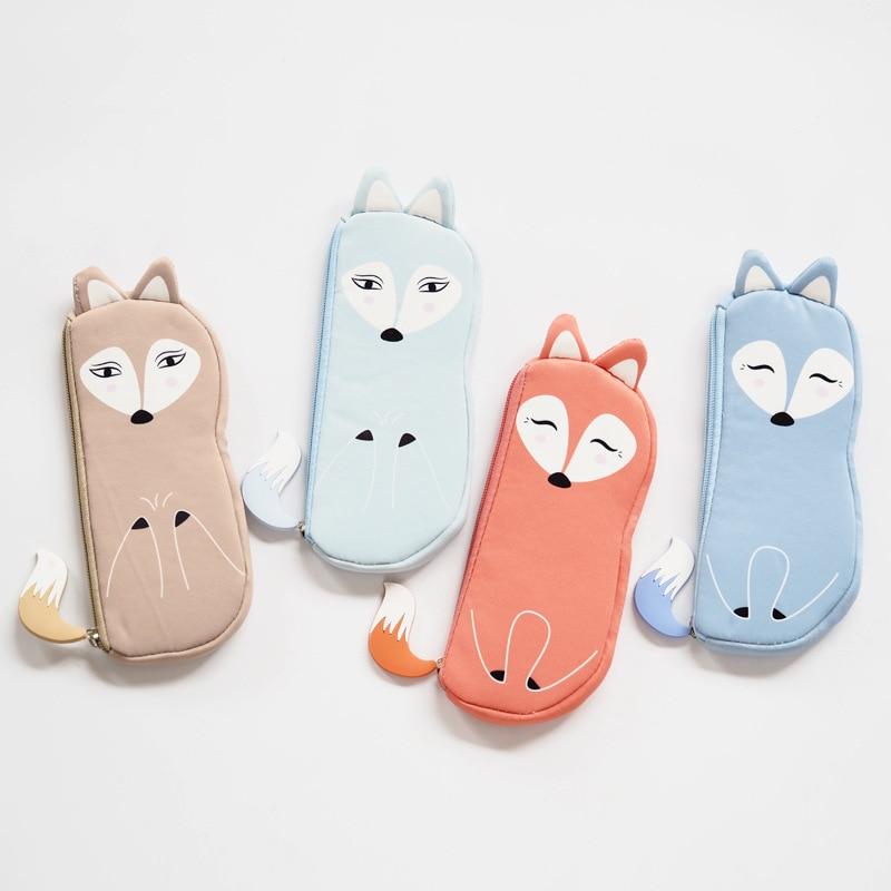 cute Fox  cartoon pencil case, pencil bag pencil box girl pencil case school stationeries чехол для карточек cute fox дк2017 115