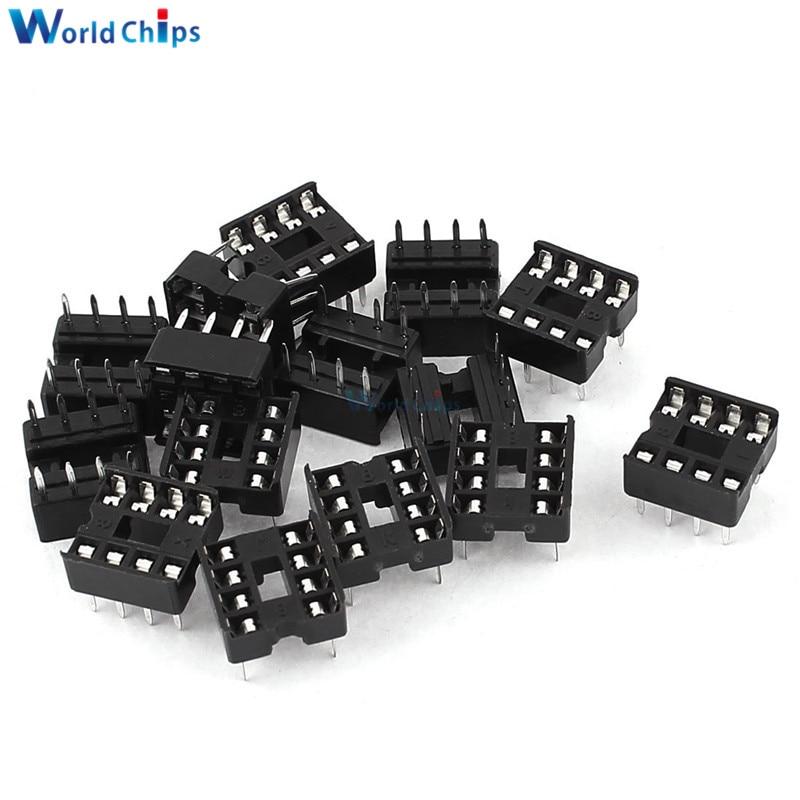 20PCS 2.54MM 8 Pin 8 Pin DIP-8 8DIP 8 DIP IC Sockets Adapter Solder Type