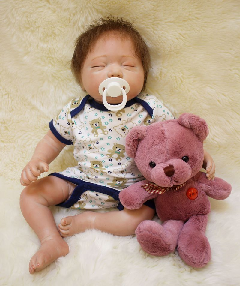 Silicone Reborn Baby Sleeping Doll Toy 50cm Newborn Babies Boy Doll Lifelike Birthday Gifts Present Girls Brinquedos Bedtime ToySilicone Reborn Baby Sleeping Doll Toy 50cm Newborn Babies Boy Doll Lifelike Birthday Gifts Present Girls Brinquedos Bedtime Toy