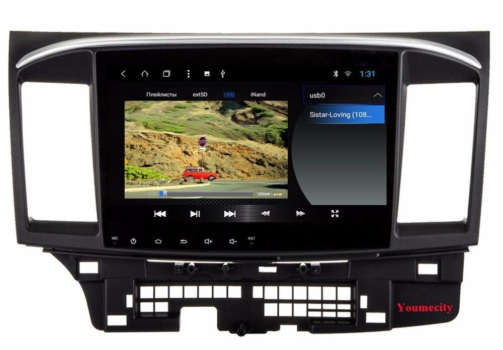 2008-2015 DVD 三菱ランサーラジオビデオプレーヤー容量性スクリーン 2 61
