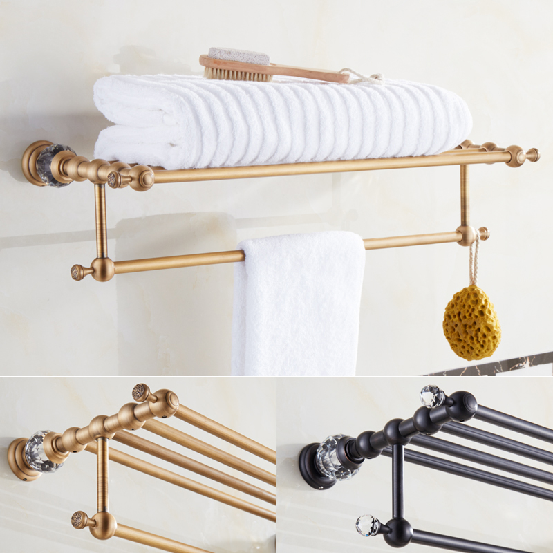Modern Antique Wall Mounted Towel Holder Brass Towel Rack with bar ...