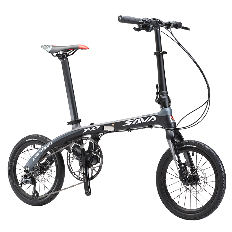 SAVA Folding Bike Adult 16 inches Carbon fiber Folding Bicycle Adult Folding Bicycle Commuting City bike Light Carbon Bike image