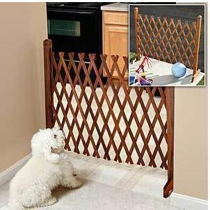 Superbe Dog Fence Retractable Fence Sliding Door Grid Pet Gate Solid Wood Primaries  Coffee Flower 70 90cm