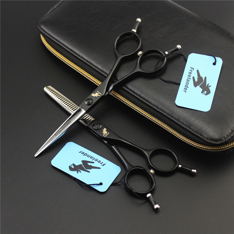 Hair Salon Professional Black Hairdressing Scissors 5.5 Barber Special Barber Styling Tools Barber Japan 440c Haircut Shears scissors 6 inch professional hair cutting scissors hairdressing salon barber shears dragon shaped handle