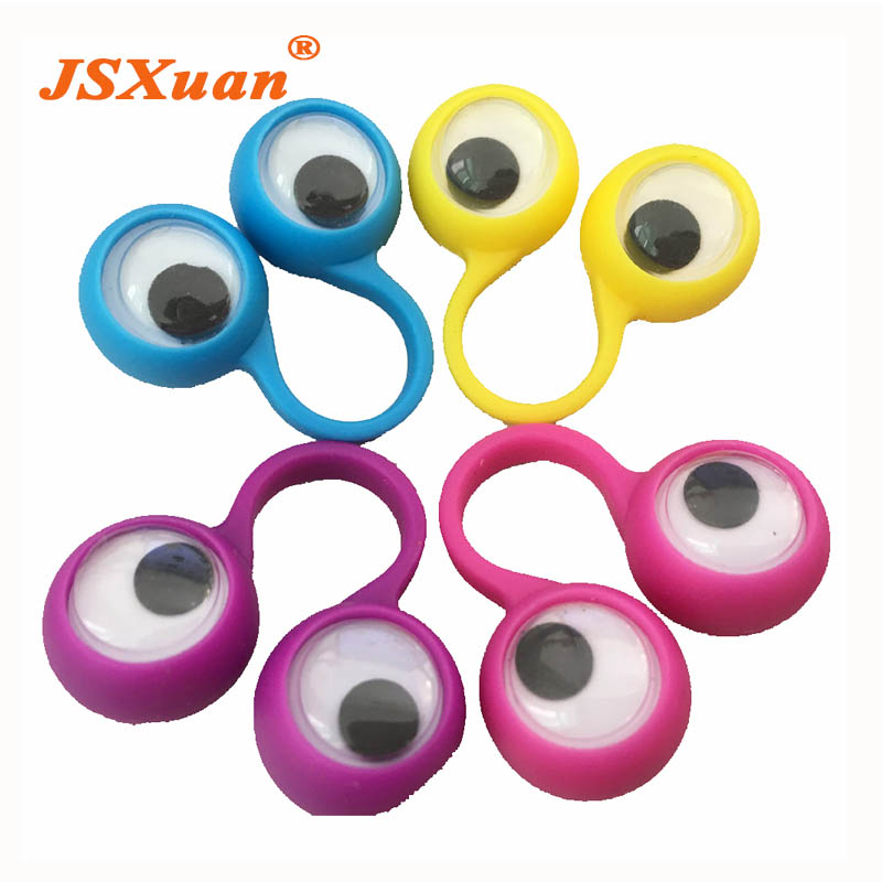 Eye Finger Puppets Plastic Rings With Wiggle Eyes Googly Puppet Assorted Colors Kids Gift Toys Great For Party Favor Fillers