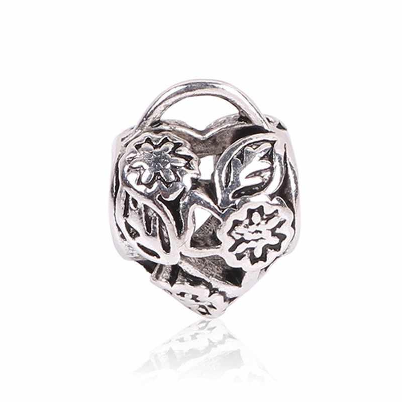 AIFEILI nowy antyczny kolor srebrny Softball róża miłości Hollow mama koralik urok dla europejskich Pandora Charm bransoletki