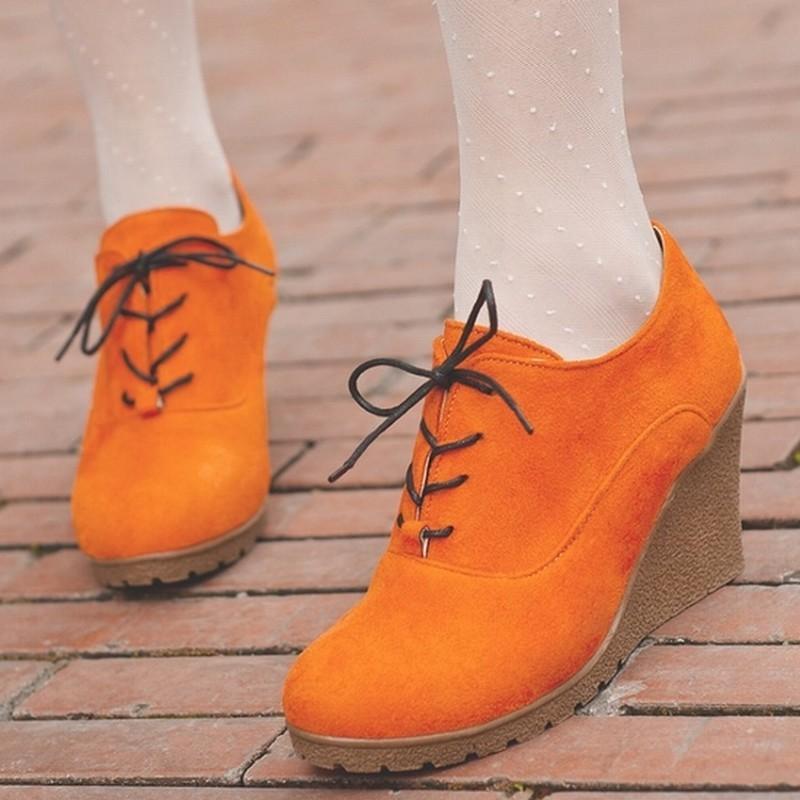 35 Zapatos Para Tacón Plataforma Negro verde Wedges naranja Casual 2016 rojo Lace Las Bombas Mujeres Goma Mujer Alto Sexy Nuevo De Tamaño Up 39 azul xXURX0nI