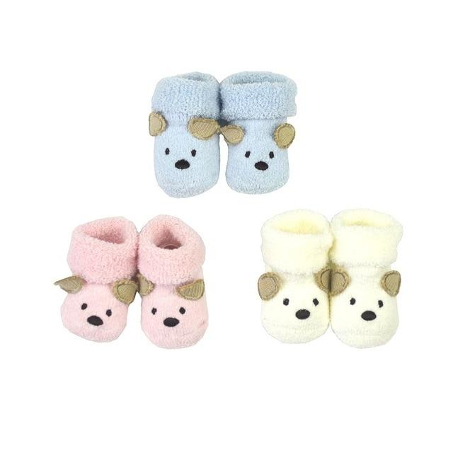 Con sư tử Gấu trẻ sơ sinh Bé chân vớ cho trẻ sơ sinh 0-3 tháng trẻ sơ sinh giày cho cô gái boy bông animal Mềm ấm Terry giày cho bé