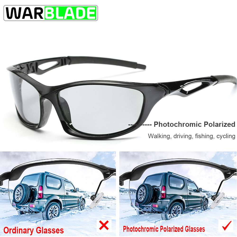 WarBLade Sports Sunglasses Polarized Cycling Glasses Photochromic Cycling Eyewear UV400 Men Women Fishing Running EyewearWarBLade Sports Sunglasses Polarized Cycling Glasses Photochromic Cycling Eyewear UV400 Men Women Fishing Running Eyewear