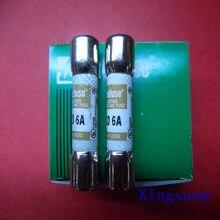 Frete grátis 10 pcs KLKD 6 new genuine Americano Littelfuse fusível/fusível 10*38 6A