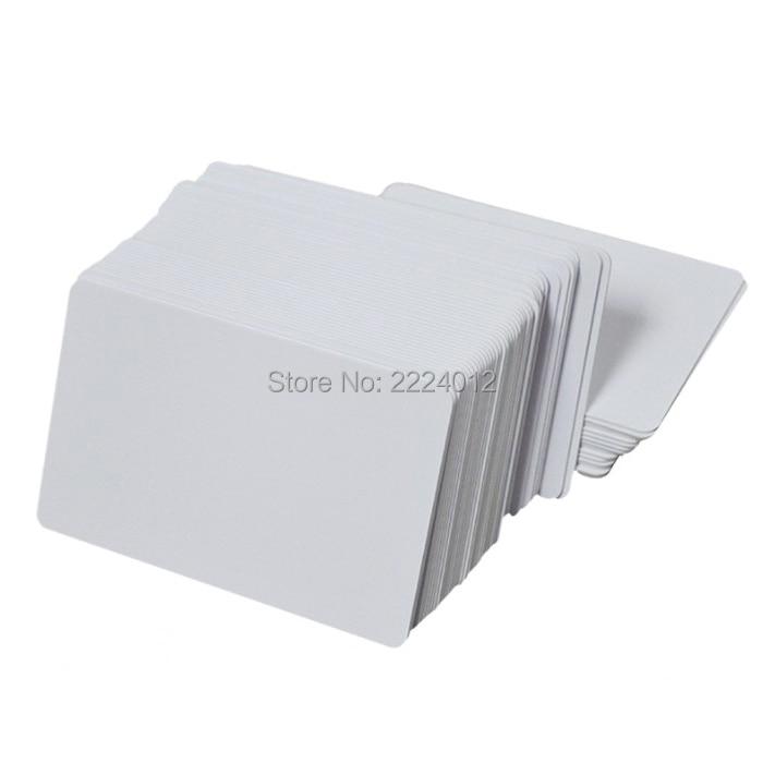 Pvc-Cards Printers Blank Id-Badge Fargo CR80 Graphic-Quality Plastic White Magicard Premium