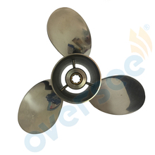 OVERSEE 9-1/4×11 Stainless Steel Propeller 11 Pitch For 9.9HP 15HP 63V 6B4 Model Yamaha Outboard Engine