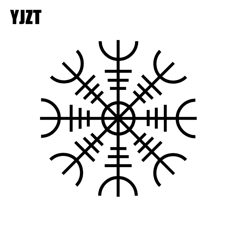 YJZT 15CM*15CM Fashion HELM OF AWE STAVE RUNE Vinyl Decoration Decal Car Sticker Graphical C11-1141