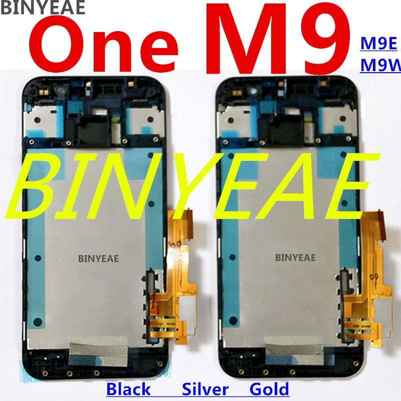 imágenes para BINYEAE Para htc M9 pantalla LCD Uno m9e lcd + pantalla Tocar + Fram M9E M9W dentro y fuera de la asamblea de pantalla LCD táctil Envío gratis