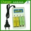 1.2 v Bateria Carregador de Bateria AA & AAA quatro slot para AA e AAA NiCd e Banco de Carregamento da bateria Ni MH 220 V 50/60 HZ AC entrada