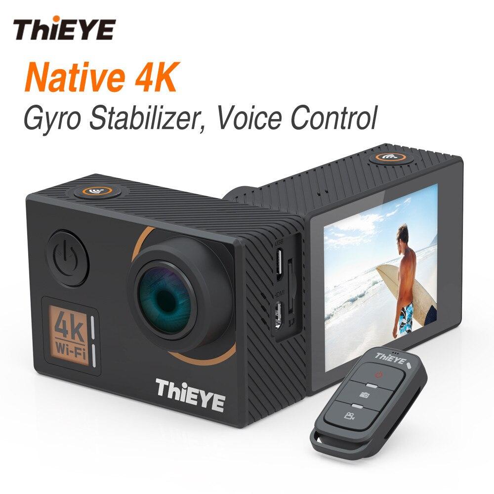 ThiEYE T5 Bord RÉEL 4 k Ultra HD Camera Action avec Gyro Stabilisateur, commande vocale et Télécommande Étanche Sport Caméra